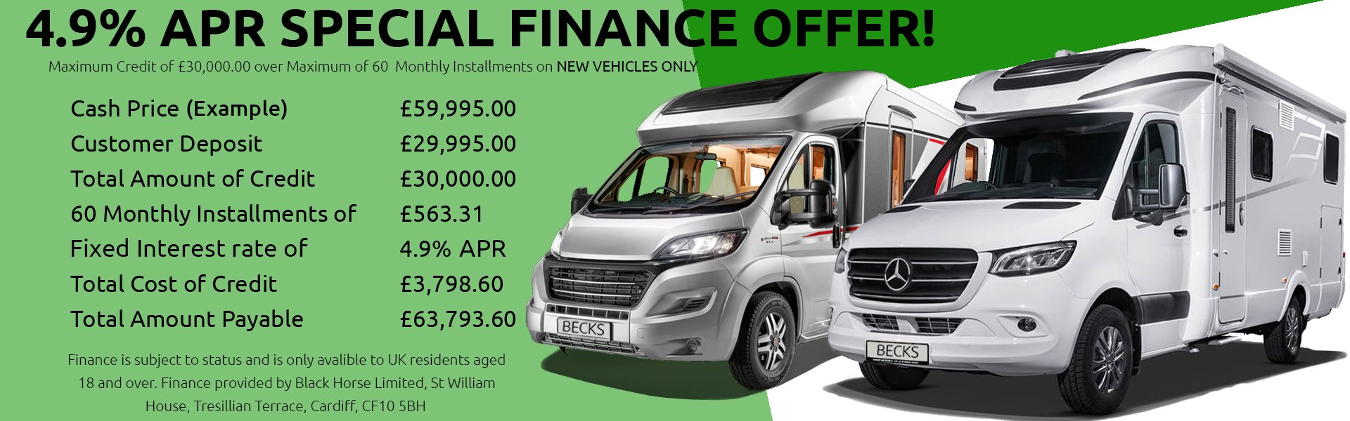 Norfolks finest selection of new & used Motorhomes for sale